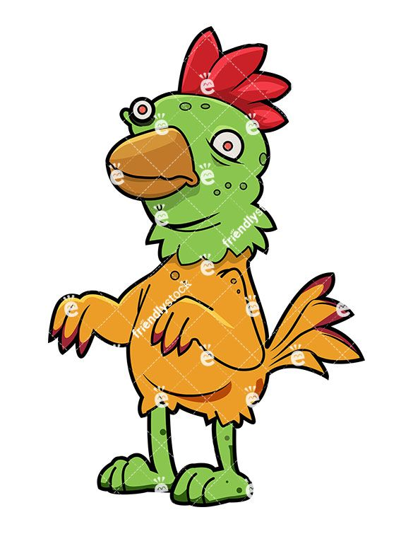 Funny zombie clipart png black and white stock Funny Zombie Chicken | Zombie Clipart | Zombie cartoon, Zombie ... png black and white stock