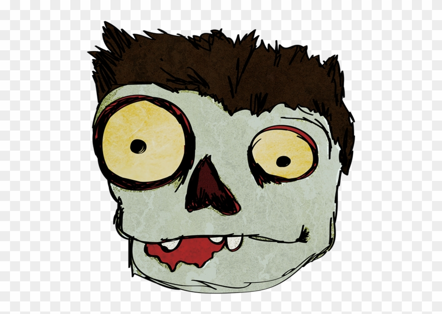 Funny zombie clipart image black and white stock Funny - Cartoon Zombie Face Png Clipart (#27087) - PinClipart image black and white stock