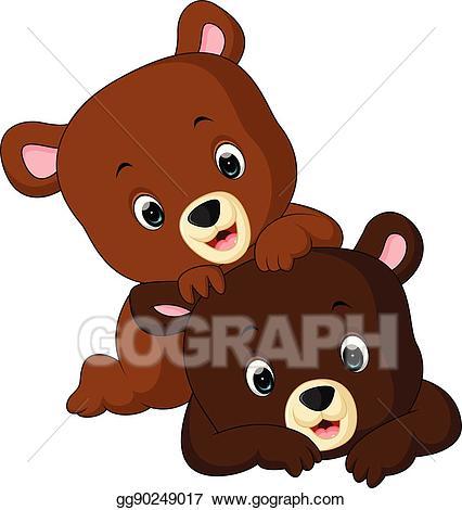 Funnybear clipart banner black and white EPS Vector - Funny bear cartoon. Stock Clipart Illustration ... banner black and white