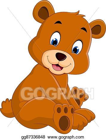 Funnybear clipart vector freeuse stock EPS Vector - Cartoon funny bear. Stock Clipart Illustration ... vector freeuse stock