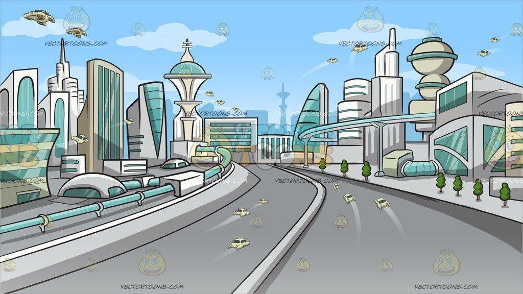 Future city clipart clip art freeuse stock Futuristic City Background clip art freeuse stock