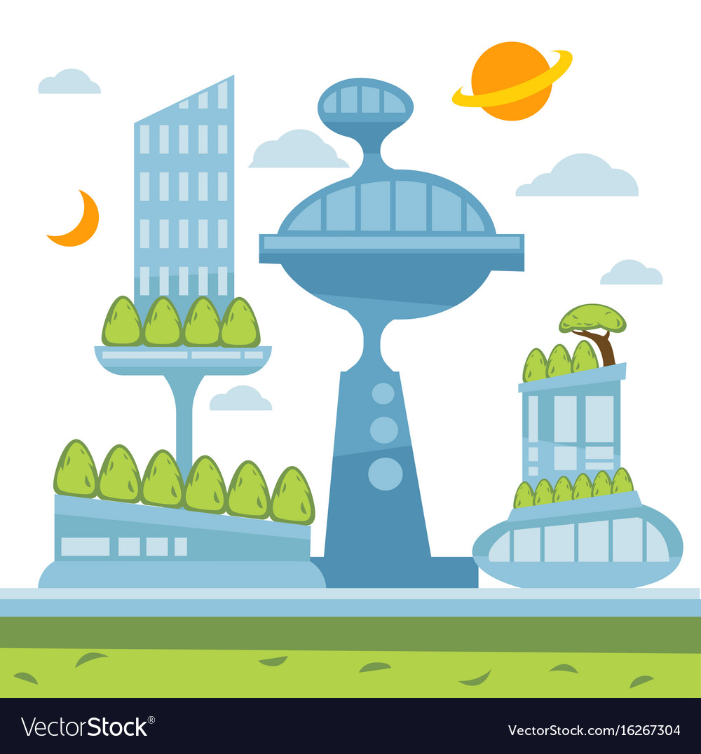 Future city clipart png black and white download Future city landscape modern png black and white download