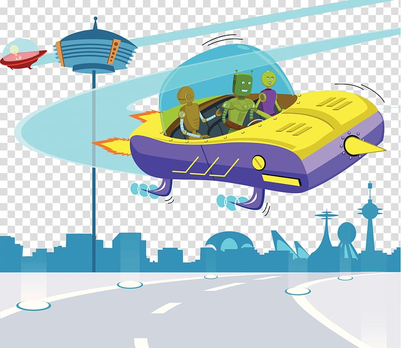 Future city clipart png royalty free library Future Science Fiction Illustration, Future city illustrations ... png royalty free library