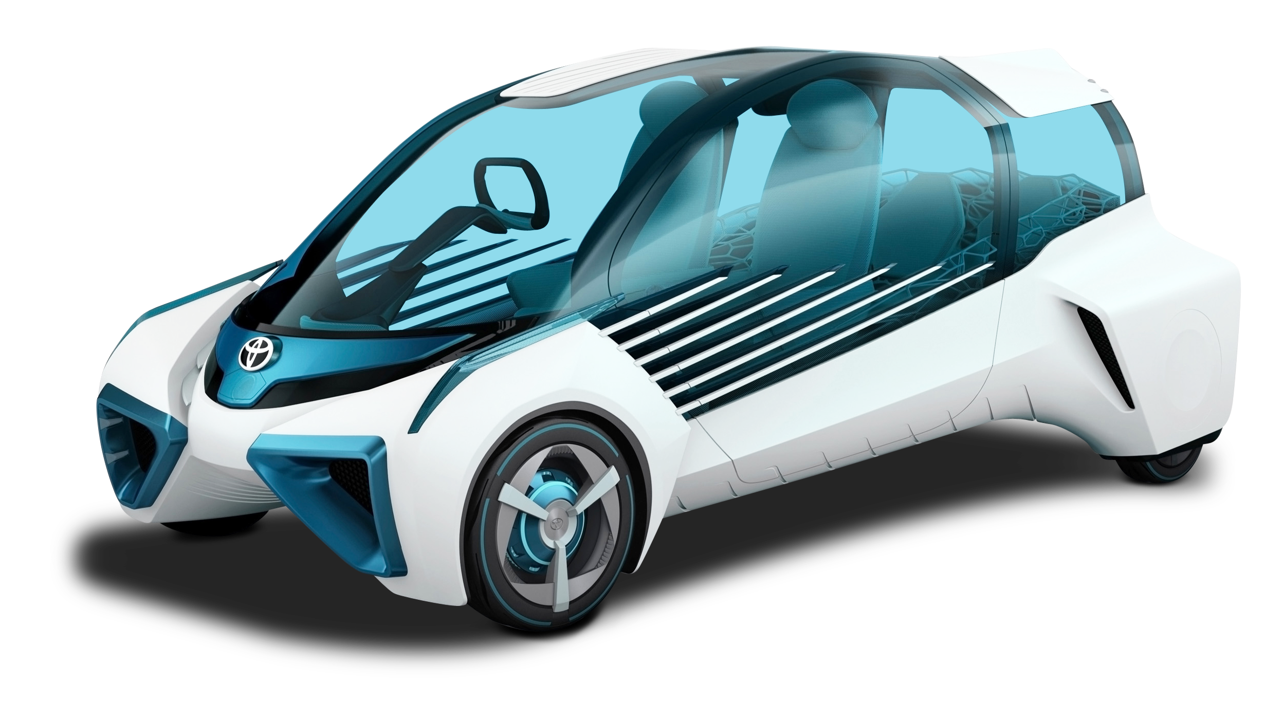Futuristic car clipart jpg freeuse Toyota FCV Plus White Car PNG Image - PngPix jpg freeuse