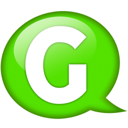 G icon clipart vector free library Green Speech Balloon G Icon, PNG ClipArt Image | IconBug.com vector free library