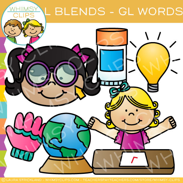 G l clipart banner transparent library L Blends Clip Art - GL Words - Volume One banner transparent library