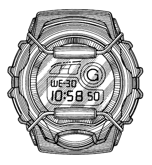 G shock logo clipart graphic free download Casio G-Shock Watch Design Patent graphic free download