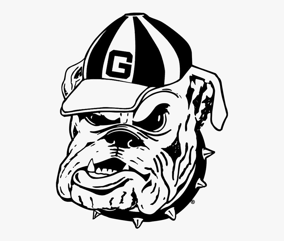 Ga bulldog drawings black & white clipart library Bulldog Outline - Georgia Bulldogs Coloring Page #703592 - Free ... library