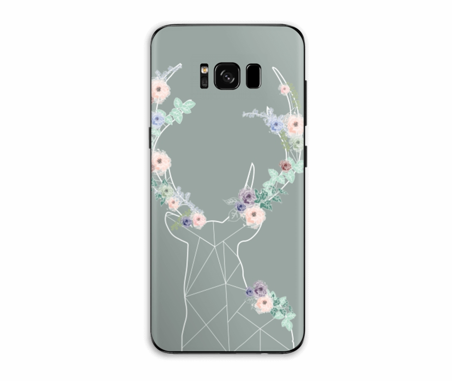 Galaxy s8 clipart picture royalty free library Grey Blooming Deer Skin Galaxy S8 Plus - Craft Free PNG Images ... picture royalty free library