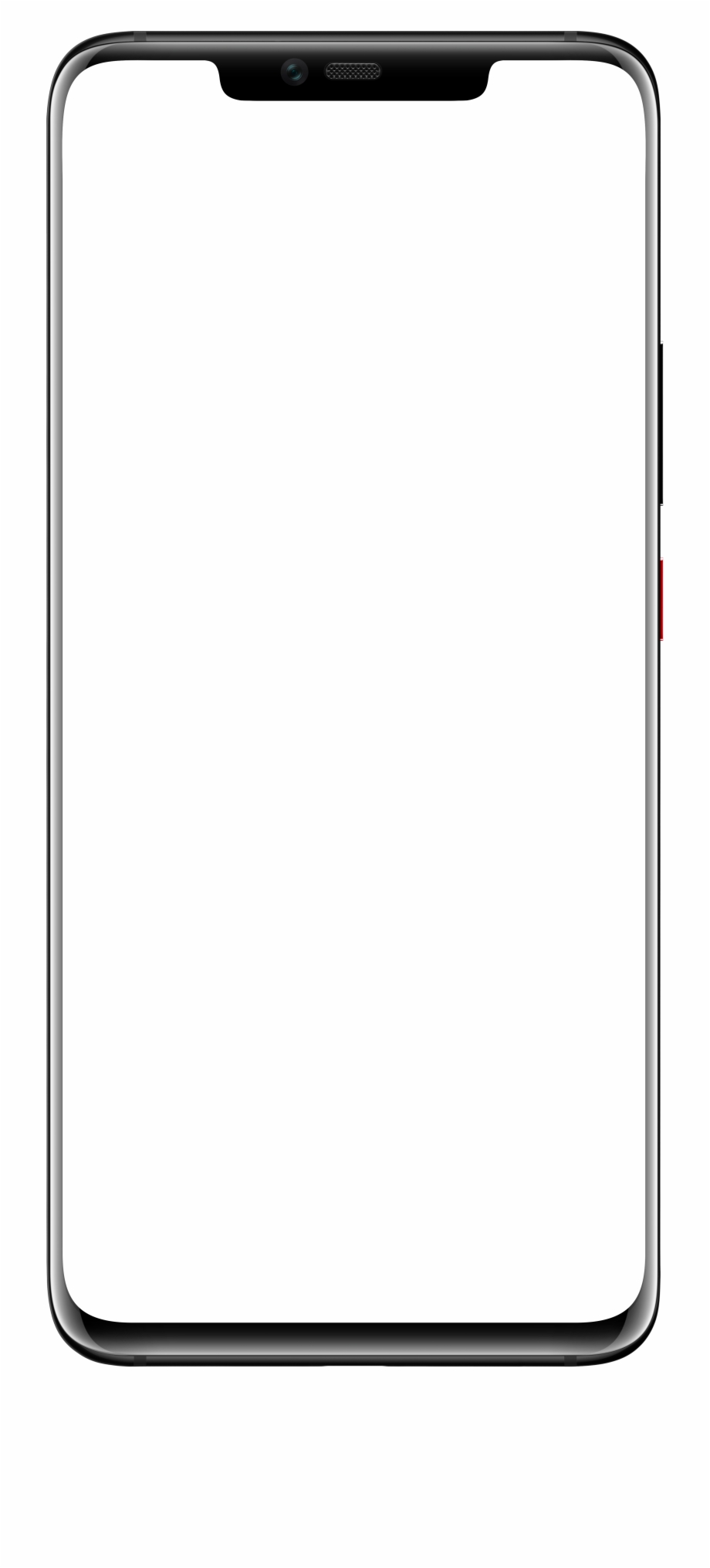 Galaxy s8 clipart svg black and white library Aesthetic Clipart Phone Screen - Samsung Galaxy S8 Outline ... svg black and white library