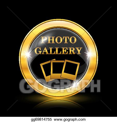 Gallery icon clipart vector free stock Vector Art - Photo gallery icon. Clipart Drawing gg69814755 - GoGraph vector free stock