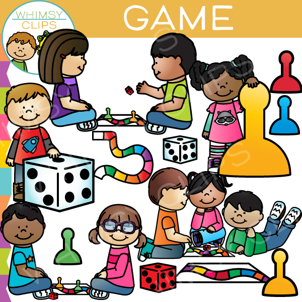 Kids playing games clipart picture library library Game Kids Clip Art picture library library