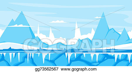 Game background clipart clip freeuse library Drawing - Winter mountain game background. Clipart Drawing ... clip freeuse library