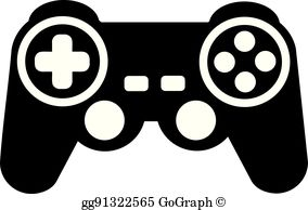 Game joystick clipart picture black and white library Game Controller Clip Art - Royalty Free - GoGraph picture black and white library