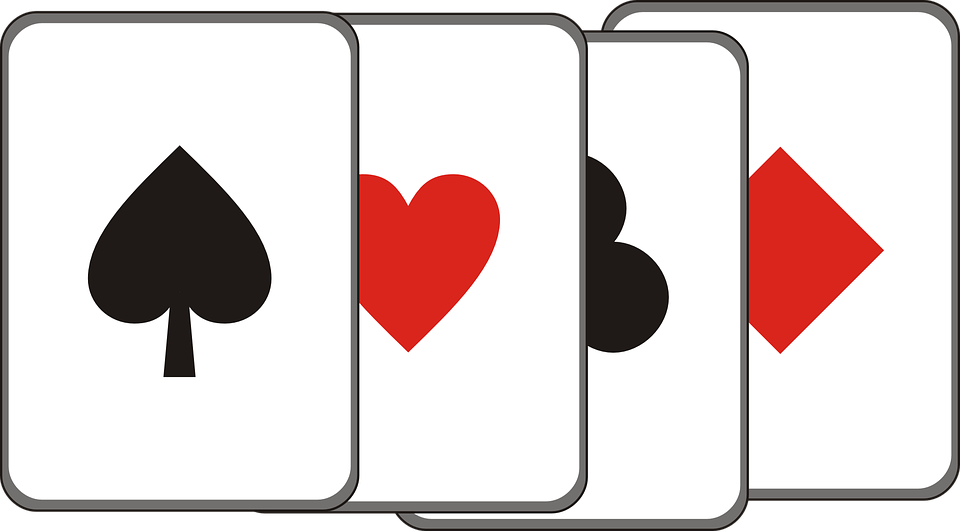 Game of hearts clipart graphic black and white Free vector graphic: Cards, Game, Diamonds, Hearts - Free Image on ... graphic black and white