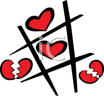 Game of hearts clipart jpg royalty free stock Tic Tac Toe Game with Hearts - Royalty Free Clip Art Image jpg royalty free stock