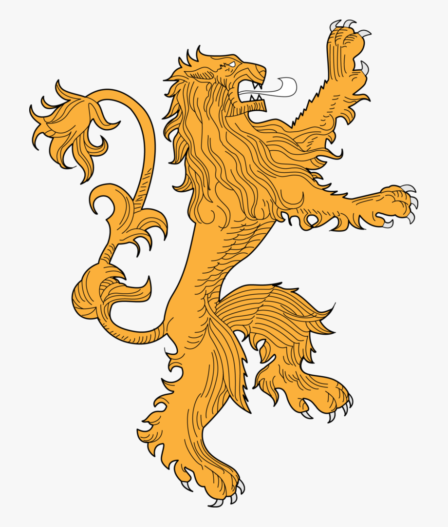 Game of thornes lion clipart graphic freeuse library Lannister Lion For Tracing - Game Of Thrones Lannister Logo Png ... graphic freeuse library