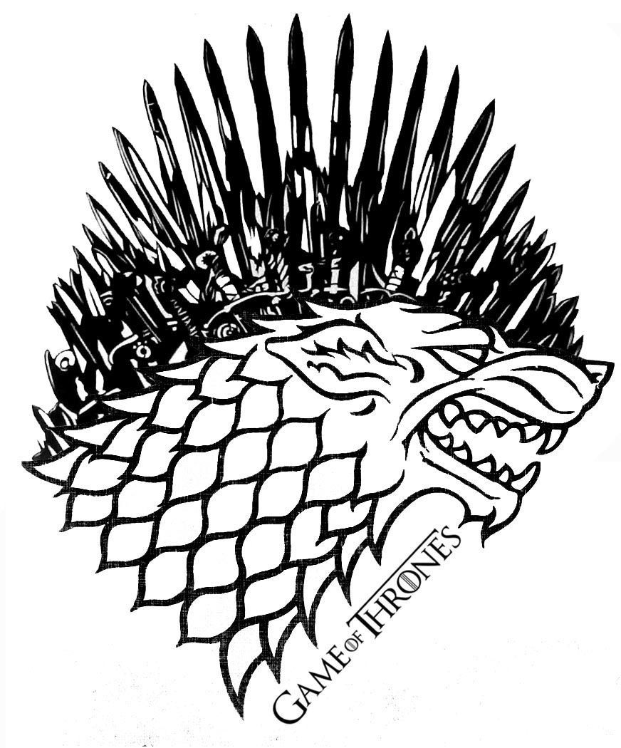 Game of thrones clipart black and white svg royalty free download Game of Thrones: Stark Iron Throne by AllHailZ.deviantart.com on ... svg royalty free download