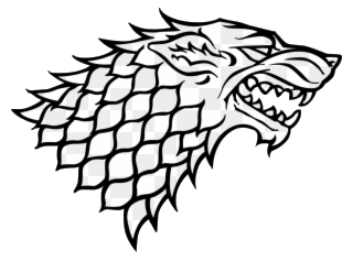 Game of thrones clipart black and white svg transparent download Game Of Thrones The Starks Stark Logo Clipart Transparent Png - AZPng svg transparent download
