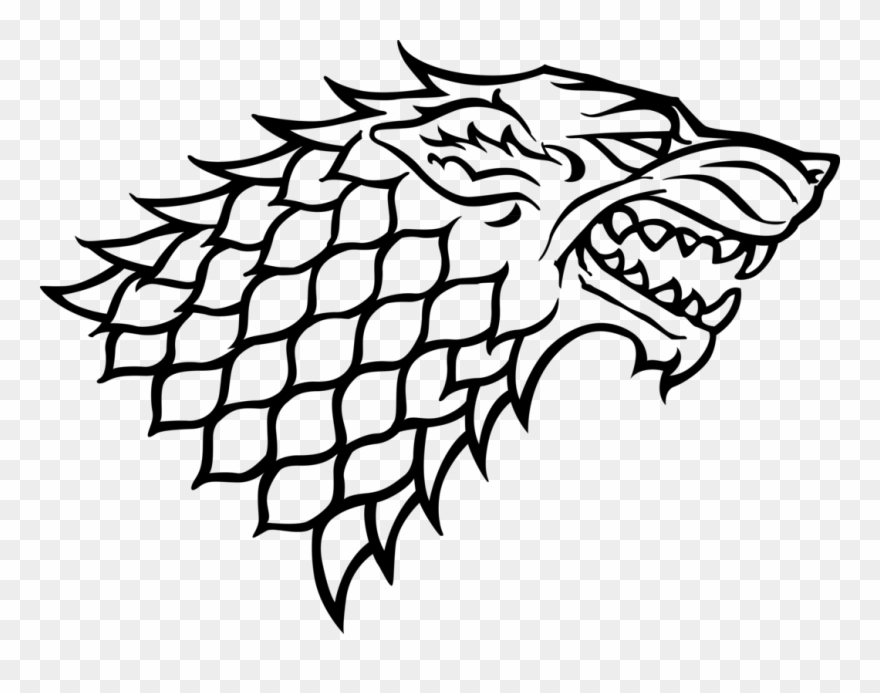 Game of thrones clipart black and white clipart library stock The Starks - Game Of Thrones Stark Logo Clipart (#604117) - PinClipart clipart library stock