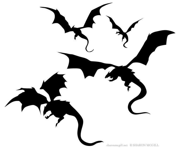 Game of thrones dragon clipart black and white image stock Black And White Dragon Tattoos Clipart   Free download best Black ... image stock