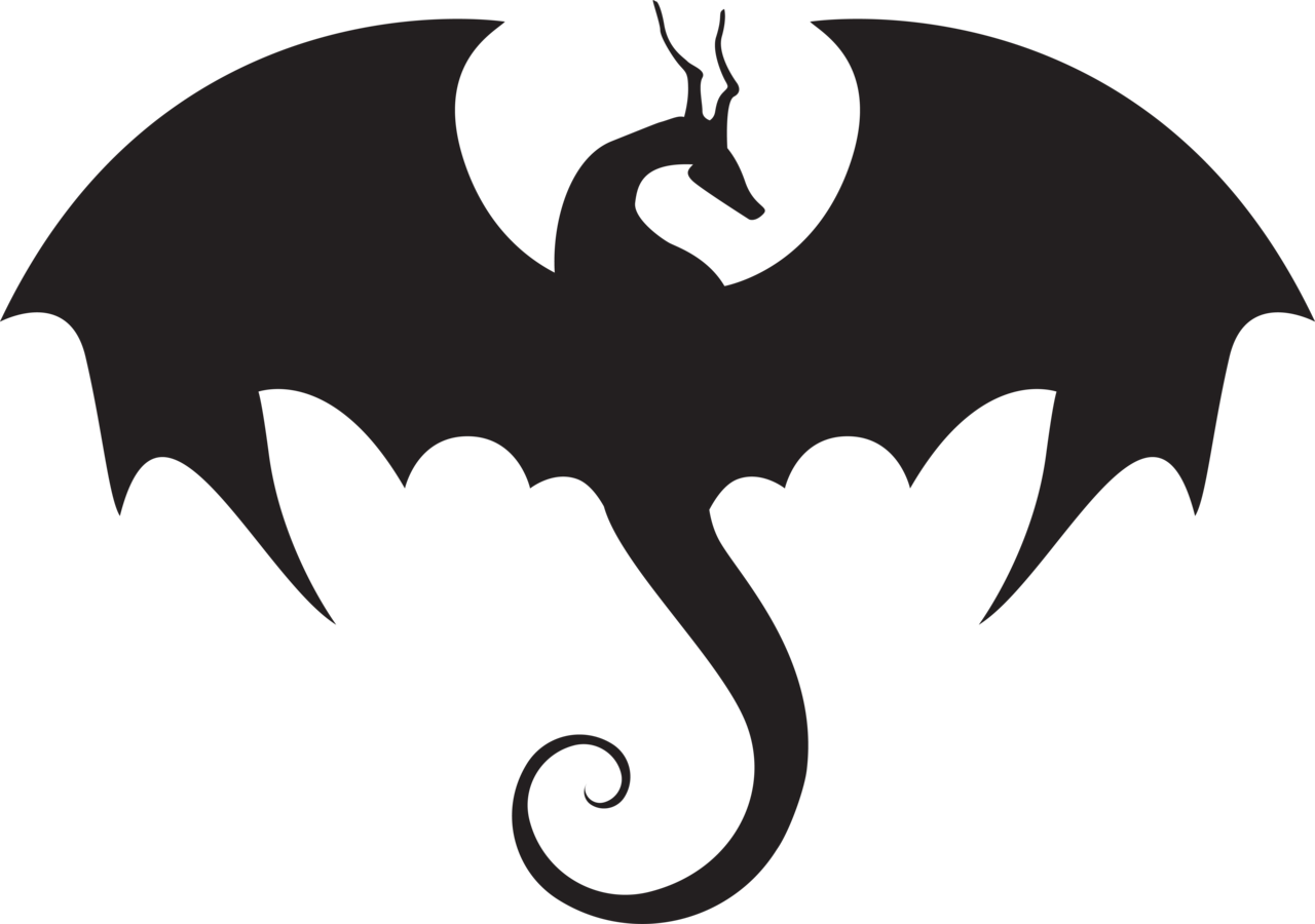 Game of thrones dragon clipart black and white picture black and white library Free Game Of Thrones Dragon Silhouette, Download Free Clip Art, Free ... picture black and white library