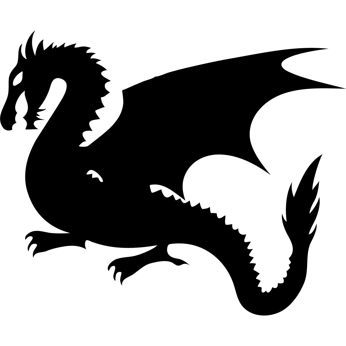 Game of thrones dragon clipart black and white vector black and white stock Game Of Thrones Dragon Clipart Transparent Png 2 - AZPng vector black and white stock