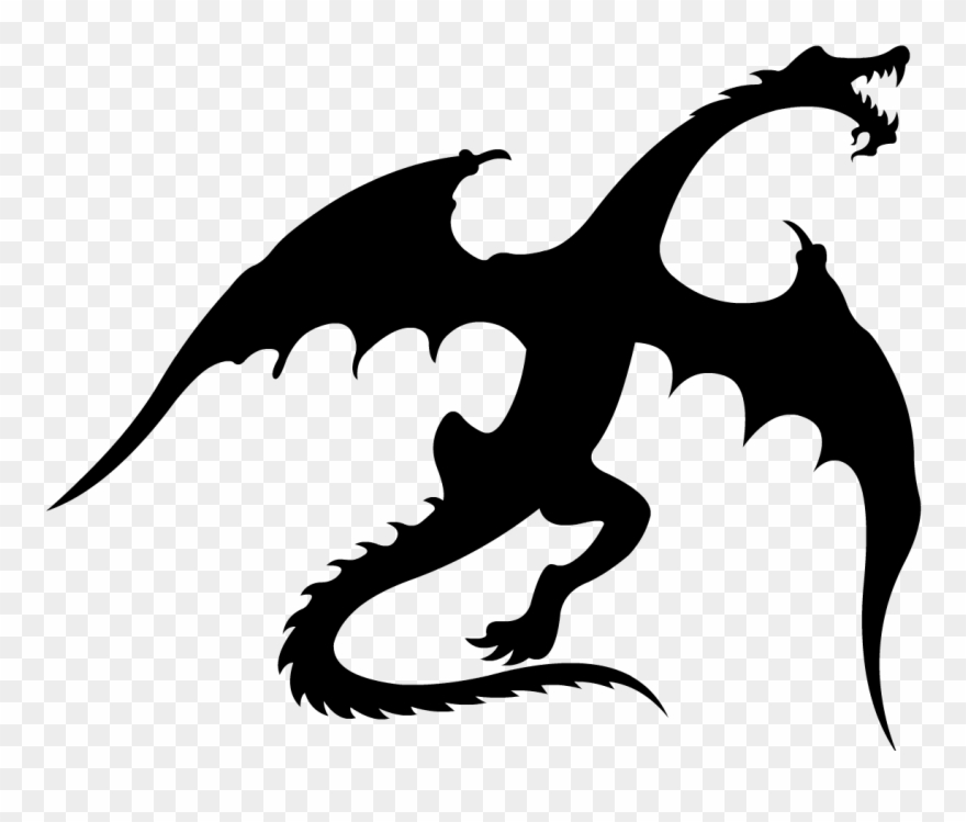 Game of thrones dragon clipart black and white clip art royalty free library Dragon1 - Flying Dragon Game Of Thrones Vector Clipart (#794572 ... clip art royalty free library