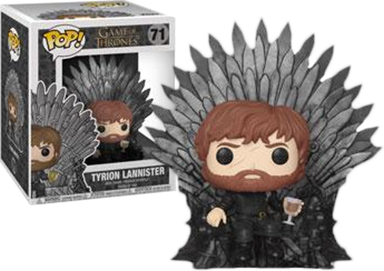 Game of thrones iron throne clipart bullmastiff picture black and white download Game of Thrones - Tyrion Lannister on Iron Throne Deluxe Pop! Vinyl ... picture black and white download