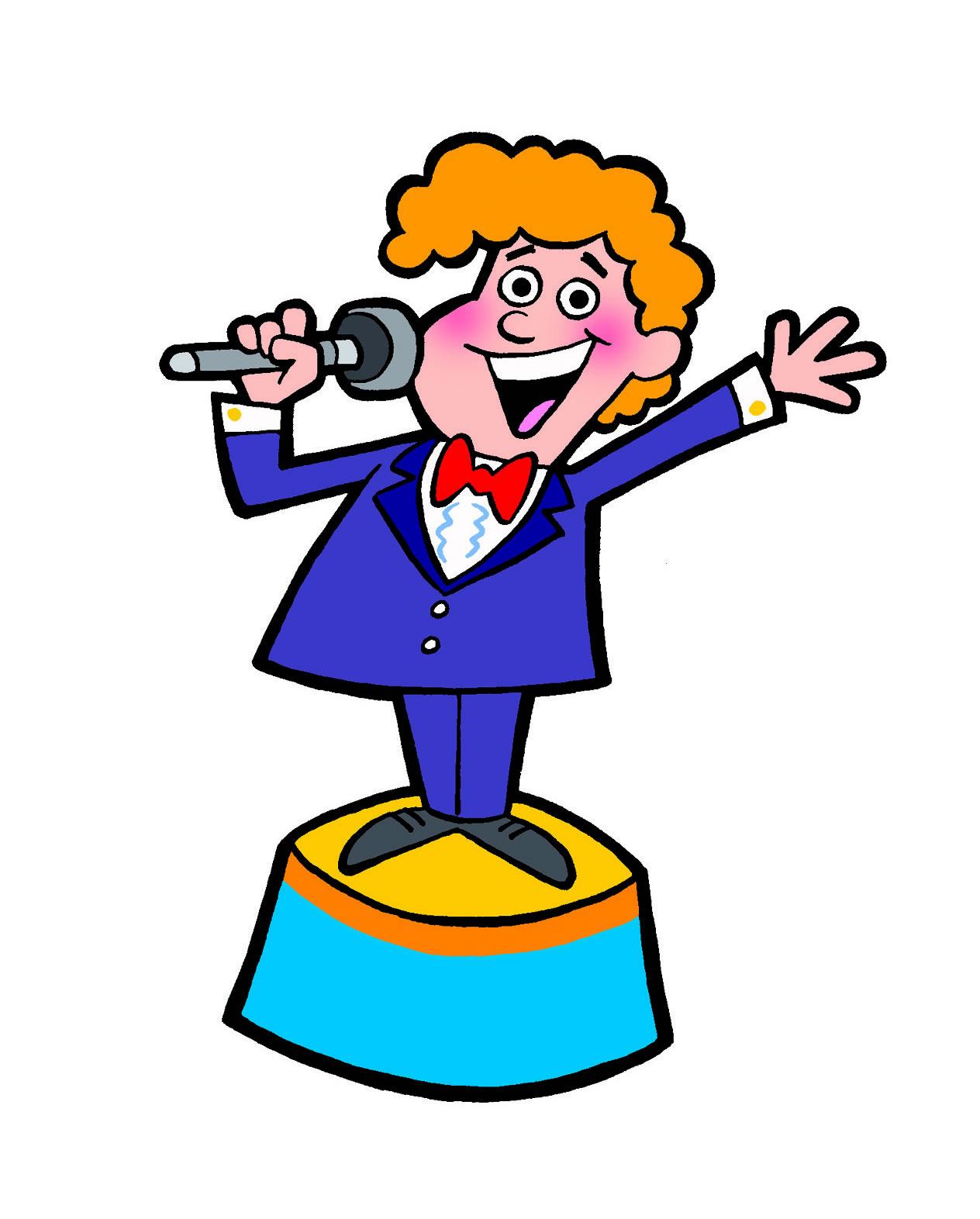 Game show host clipart