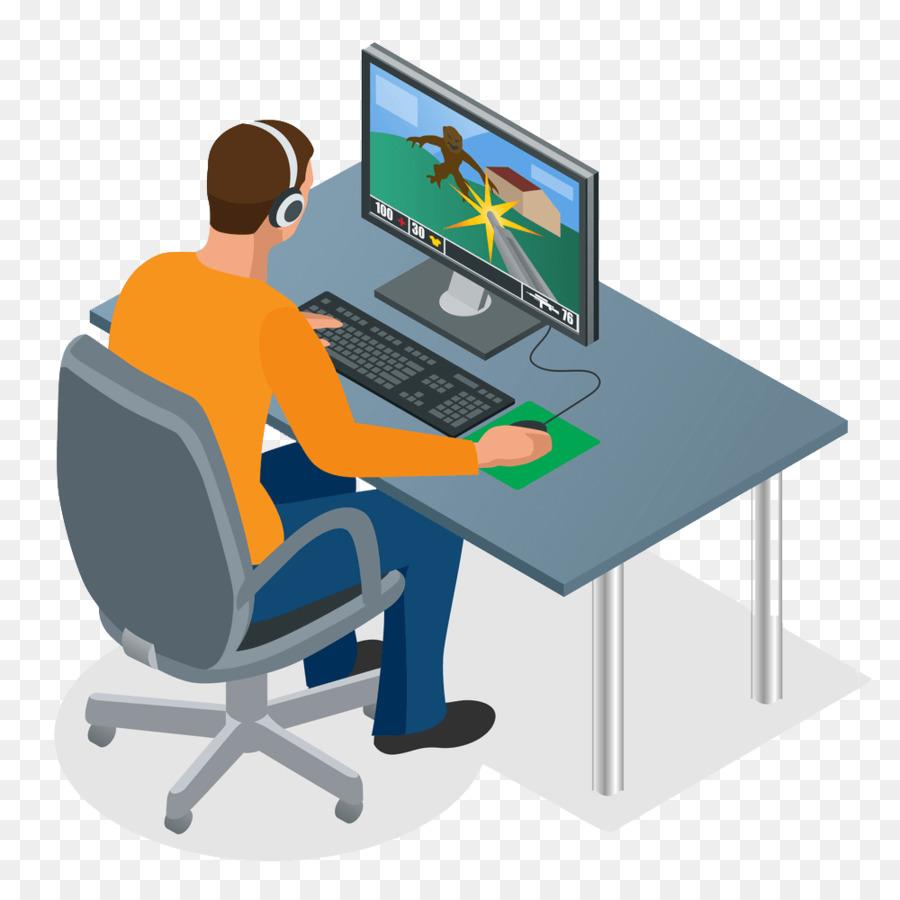 Gaming desktop clipart clip art black and white stock Headphones Cartoon png download - 1000*1000 - Free Transparent ... clip art black and white stock