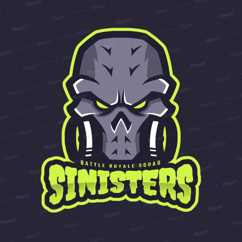 Logo gamer clipart svg transparent download Gaming Logo Template Featuring a Fantasy Skull Clipart 1750f svg transparent download