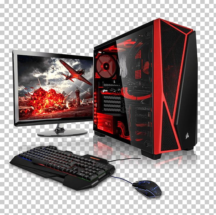 Gaming pc clipart png stock Megaport PC Gamer AMD FX-6100 Gaming Computer Desktop Computers ... png stock