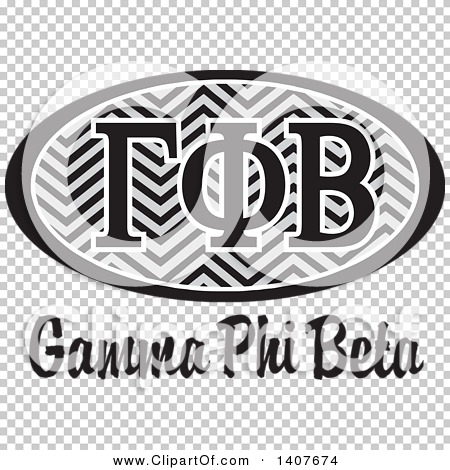 Gamma phi beta clipart picture freeuse stock Clipart of a Grayscale College Gamma Phi Beta Sorority ... picture freeuse stock