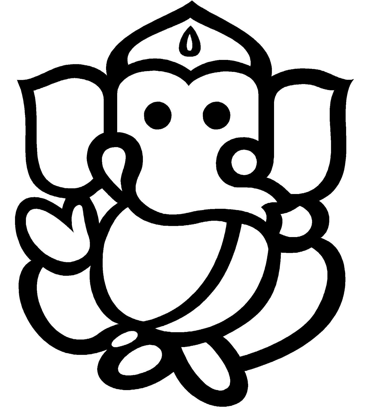 Ganesha clipart vector png royalty free download Free Ganpati Line Art Vector, Download Free Clip Art, Free Clip Art ... png royalty free download