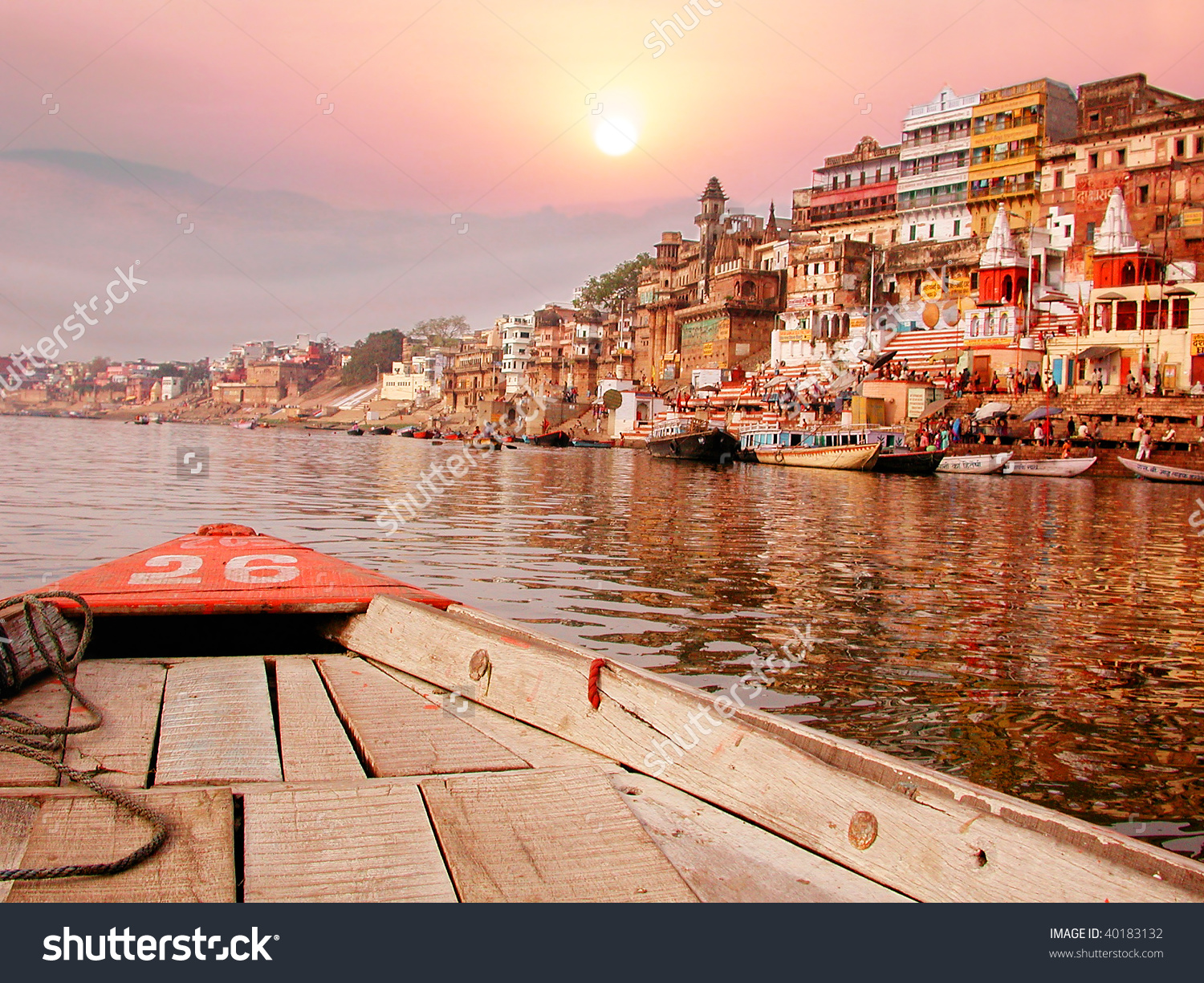 Ganga river clipart picture transparent On Sunset River Bank On Ganges Stock Photo 40183132 - Shutterstock picture transparent