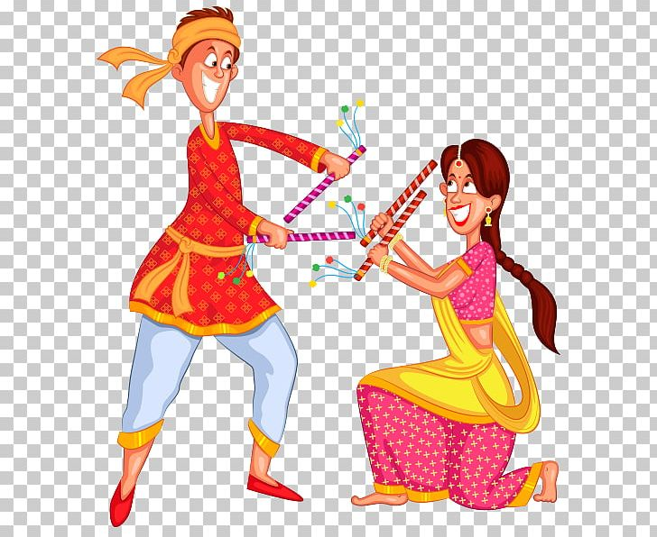 Garba dance clipart