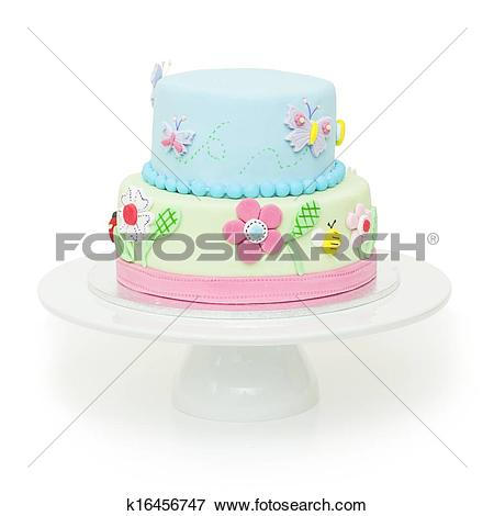 Garden birthday cake clipart clip freeuse library Picture of Beautiful garden themed birthday cake k16456747 ... clip freeuse library