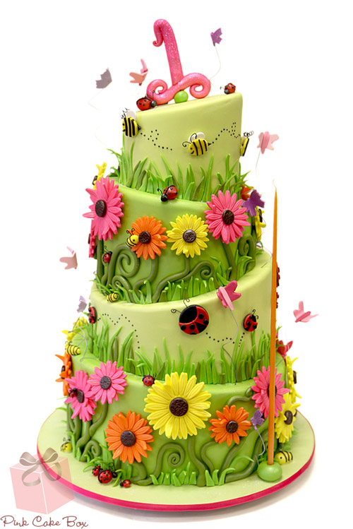 Garden birthday cake clipart clip free stock 10 Creative 1st Birthday Cake Ideas! » Pink Cake Box clip free stock