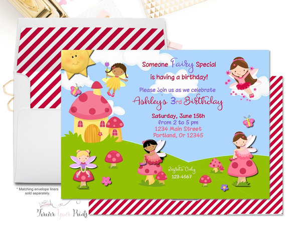 Garden fairy 1st birthday clipart image transparent stock Girls Fairy Birthday Party Invitations, Fairy Birthday Invitations ... image transparent stock