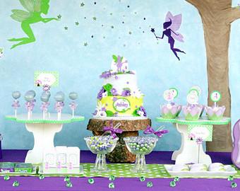 Garden fairy 1st birthday clipart