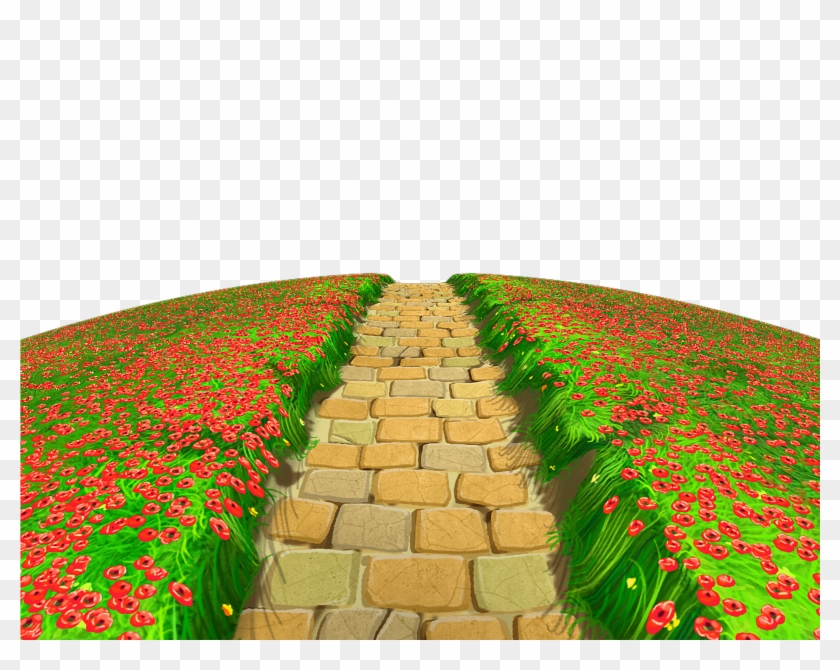 Garden path clipart banner transparent library Stone Path With Flowers Ground Png Clipart - Garden Path Clipart ... banner transparent library