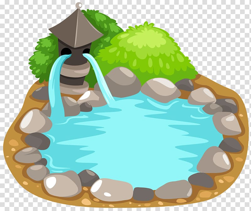 Garden pond clipart picture library library Pond illustration, Fish pond , Fish Pond transparent background PNG ... picture library library