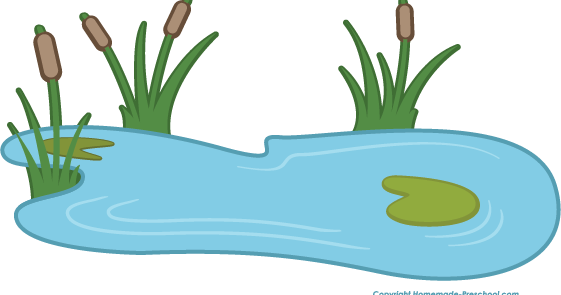 Garden pond clipart vector transparent stock Fish In A Pond Clipart vector transparent stock