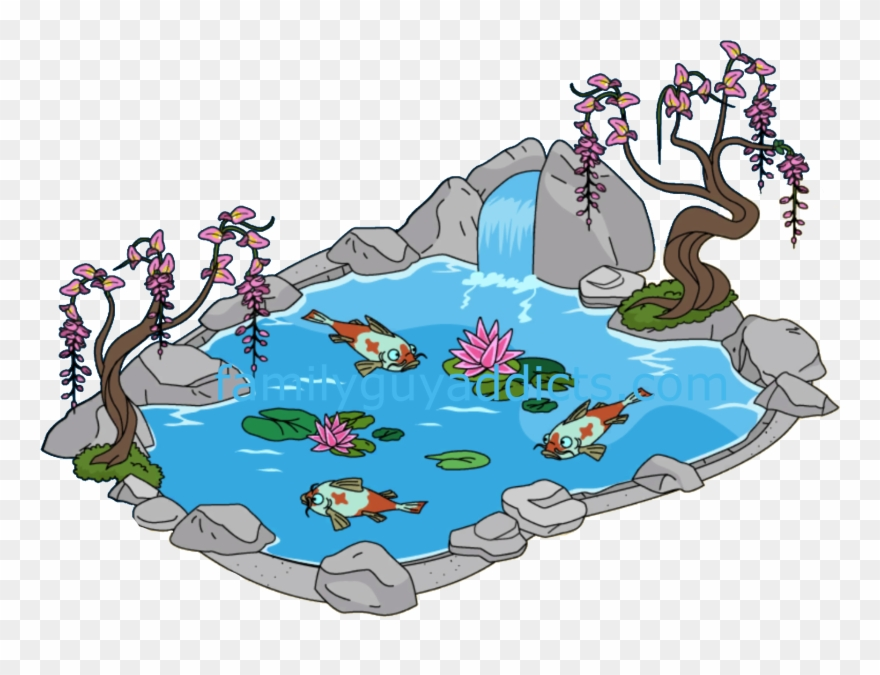 Garden pond clipart clipart black and white library Pond Clipart Koi Pond - Koi Pond Clip Art - Png Download (#248148 ... clipart black and white library