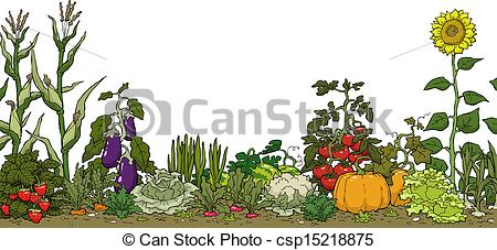Garden row clipart vegetable graphic black and white stock Garden clipart vegetable - ClipartFest graphic black and white stock