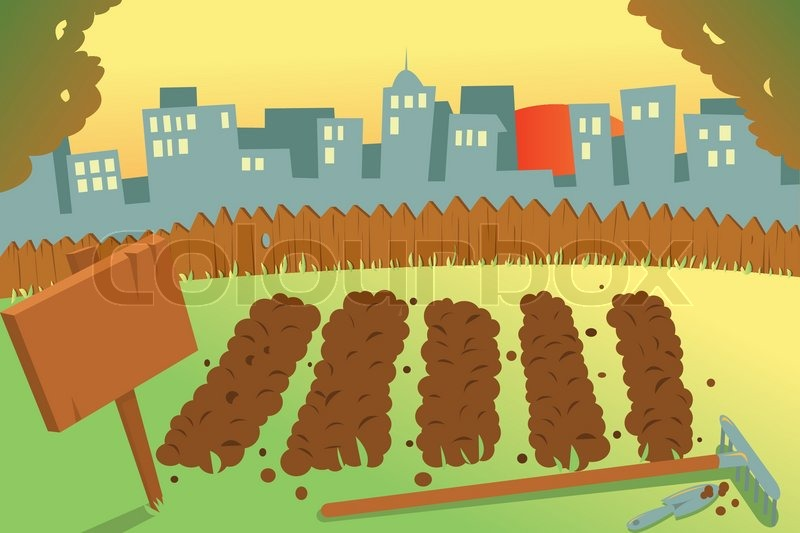 Garden row clipart vegetable svg royalty free download Food gardening clipart - ClipartFox svg royalty free download