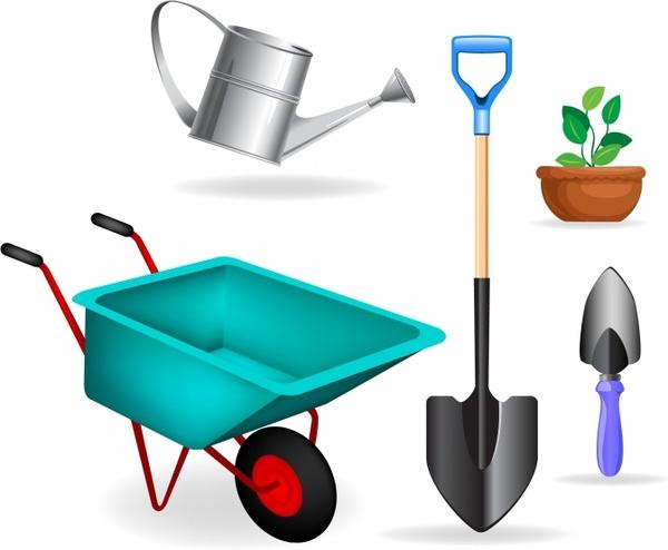 Garden tools clipart free jpg transparent stock Garden tools. Free vector in Adobe Illustrator ai ( .AI ... jpg transparent stock