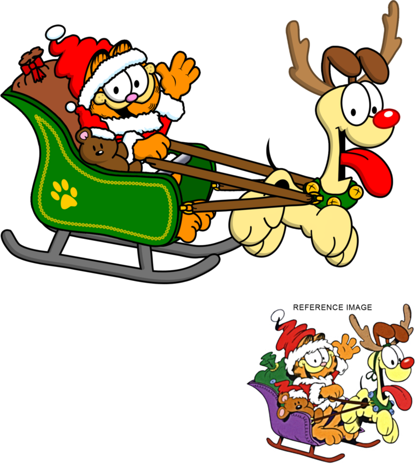 Garfield halloween clipart vector free library 28+ Collection of Garfield Christmas Clipart | High quality, free ... vector free library