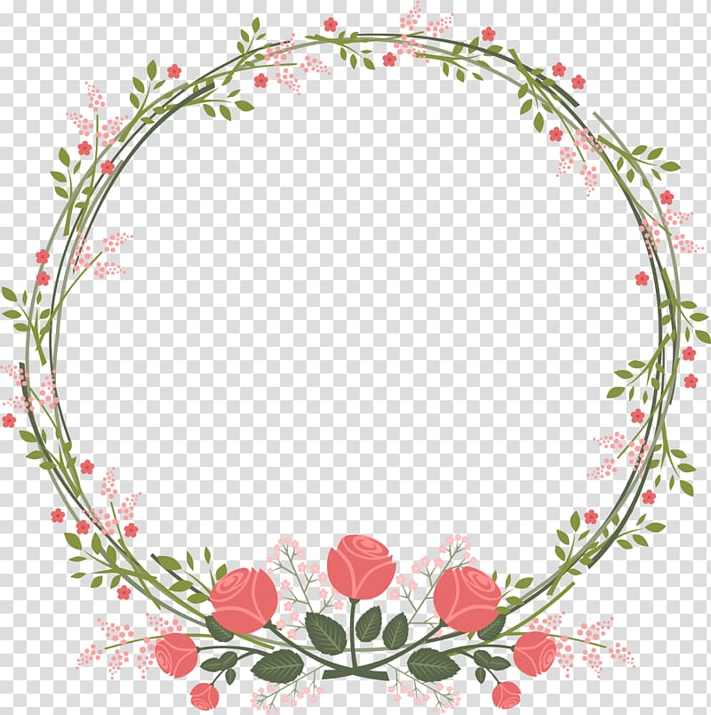 Garland clipart pink and wine no background clip freeuse download Wedding invitation Paper Flower Rose, Beautiful fresh garland border ... clip freeuse download